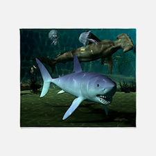 Shark Week Throw Blanket