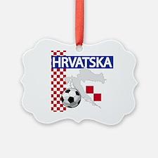 Hrvatska Croatia Futbol Ornament