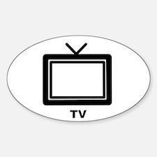 TV Dude Sticker (Oval)