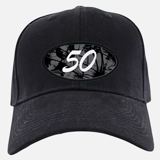 Grunge 50th Birthday Baseball Hat