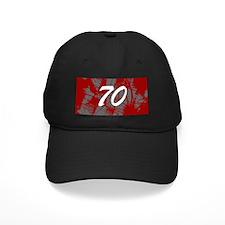 Grunge 70th Birthday Baseball Hat