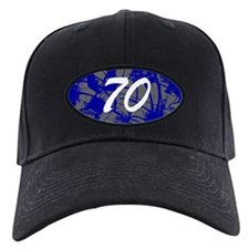 Grunge 70th Birthday Baseball Hat