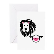 Lion And Lamb Greeting Cards (pk Of 20)