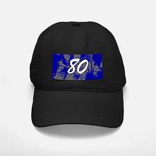 Grunge 80th Birthday Baseball Hat