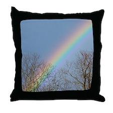 Rainbow Tree Tops Throw Pillow