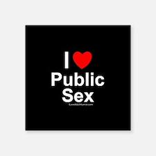 """Public Sex Square Sticker 3"""" x 3"""""""
