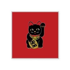 Black Maneki Neko Sticker