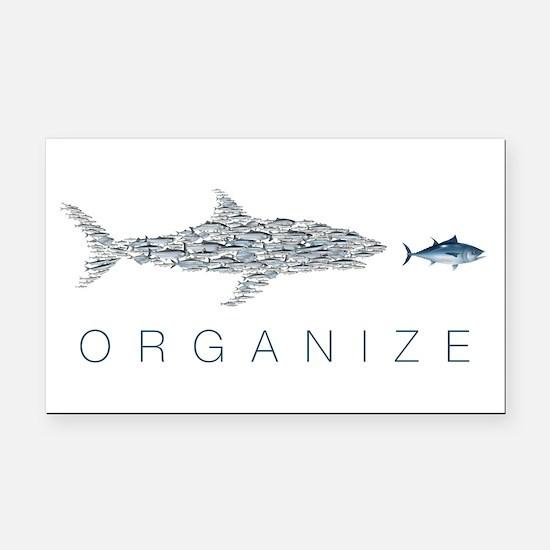 Organize Fish Rectangle Car Magnet
