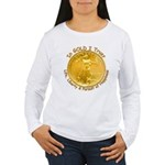 Gold Liberty 3 Women's Long Sleeve T-Shirt