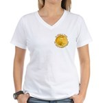 Gold Liberty 3 Women's V-Neck T-Shirt