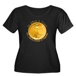 Gold Liberty 3 Women's Plus Size Scoop Neck Dark T