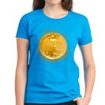 Gold Liberty 3 Women's Dark T-Shirt