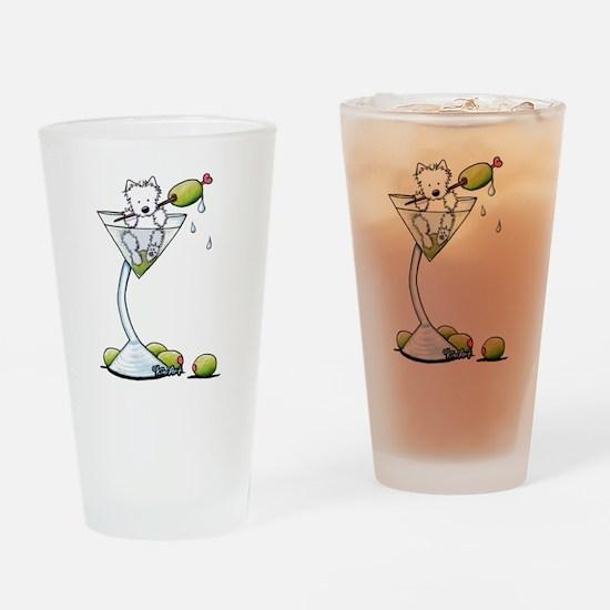 Olive You Westie Drinking Glass