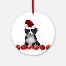 Christmas Bernese Mountain Dog Ornament (Round)