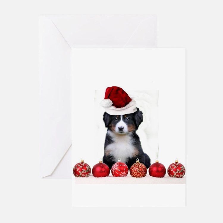 Christmas Bernese Mountain Dog Greeting Cards