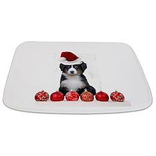 Christmas Bernese Mountain Dog Bathmat