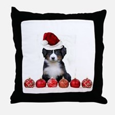 Christmas Bernese Mountain Dog Throw Pillow