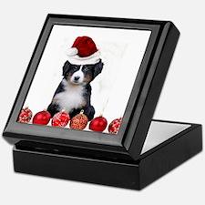 Christmas Bernese Mountain Dog Keepsake Box