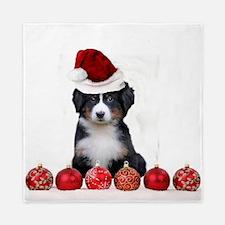 Christmas Bernese Mountain Dog Queen Duvet