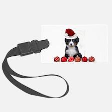 Christmas Bernese Mountain Dog Luggage Tag