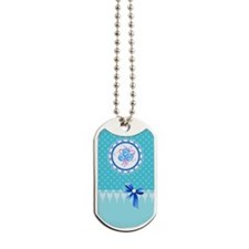 Aqua Lace- Dog Tags