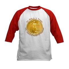 Gold Liberty 3 Kids Baseball Jersey