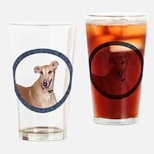 Greyhound (Portr)-Wreath Drinking Glass