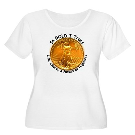 Gold Liberty 4 Women's Plus Size Scoop Neck T-Shir