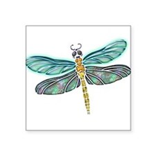 "Cute Dragonflies Square Sticker 3"" x 3"""