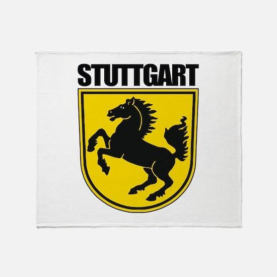 Stuttgart COA (blk).png Throw Blanket