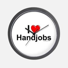 Handjobs Wall Clock