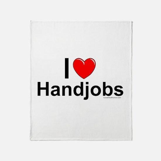 Handjobs Throw Blanket