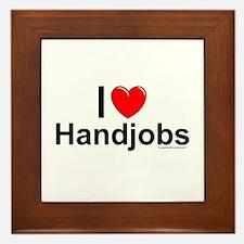 Handjobs Framed Tile