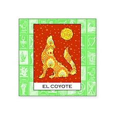 "Cute Coyote Square Sticker 3"" x 3"""
