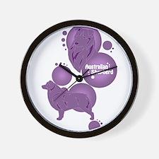 Aussie1Purple Wall Clock