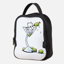 KiniArt Westie Martini Neoprene Lunch Bag