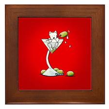 KiniArt Westie Martini Framed Tile