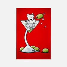KiniArt Westie Martini Rectangle Magnet