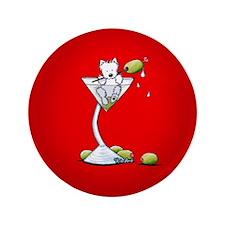 "KiniArt Westie Martini 3.5"" Button"