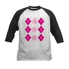 Pink Argyle Design Baseball Jersey
