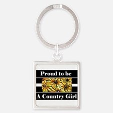Proud To Be A Country Girl Keychains