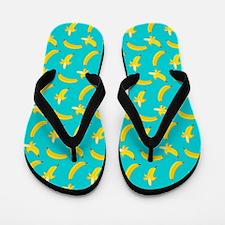 Bananas Pattern Flip Flops