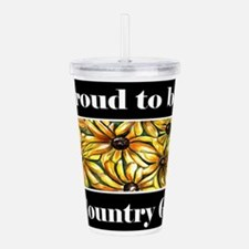 Proud To Be A Country Acrylic Double-wall Tumbler