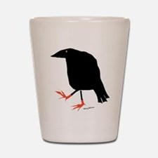 Cute Blackbird Shot Glass
