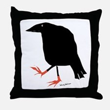 Crows and ravens Throw Pillow