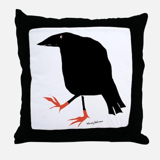 Funny Birds Throw Pillow