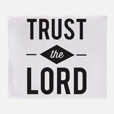 Trust the Lord Throw Blanket