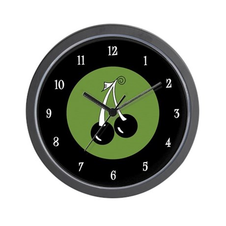 Black Cherries Wall Clock