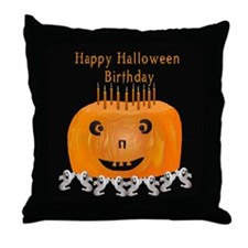 Halloween Birthday Throw Pillow