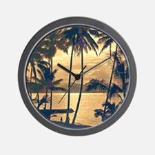 Tropical Silhouettes Wall Clock